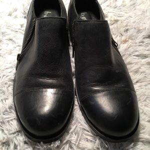 B O C Black Leather Shoes Size W 10